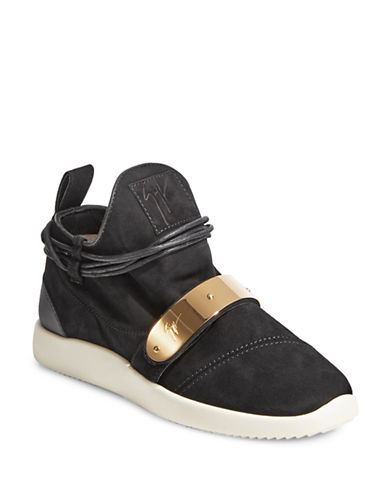 Giuseppe Zanotti Athletic Low-Top Sneakers-BLACK-EUR 40/US 10