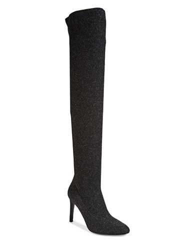 Giuseppe Zanotti Bimba Sparkling Over-The-Knee Boots-BLACK-EUR 37.5/US 7.5