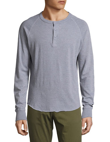 Save Khaki Long Sleeve Supima Henley-GREY-Medium