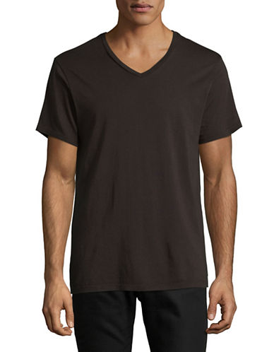 Save Khaki Supima V-Neck T-Shirt-ESPRESSO-Medium