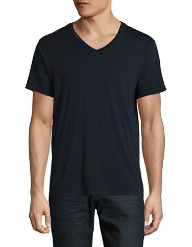 Save Khaki Supima V-Neck T-Shirt-NAVY-Small