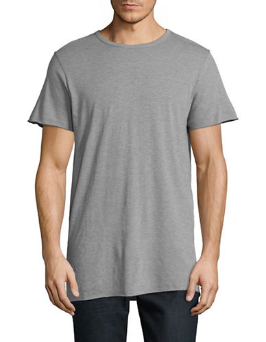 Save Khaki Raw T-Shirt-GREY-Small