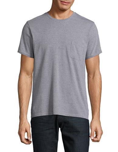 Save Khaki Heathered Open Pocket T-Shirt-GREY-Small