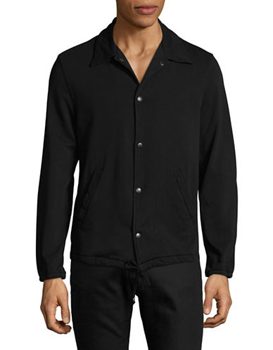 Save Khaki Supima Cotton Warm-Up Jacket-BLACK-X-Large