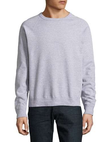 Save Khaki Raglan Fleece Sweater-GREY-Small