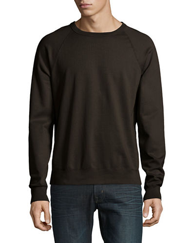 Save Khaki Raglan Fleece Sweater-BROWN-Medium