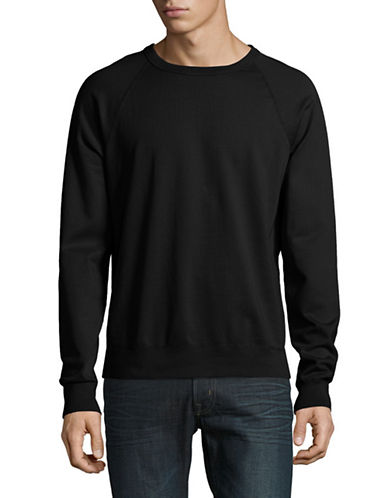 Save Khaki Raglan Fleece Sweater-CHARCOAL-Medium