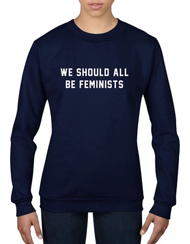 Adolescent Clothing We Should All Be Feminist Sweatshirt-NAVY-Medium