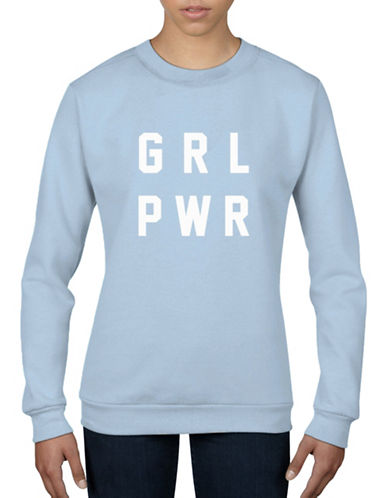 Adolescent Clothing Girl Power Sweatshirt-LIGHT BLUE-Large