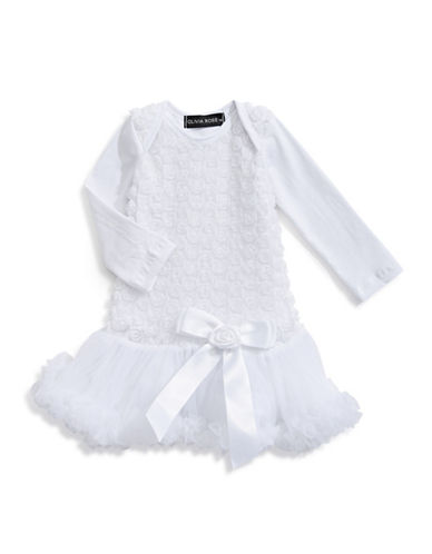 Olivia Rose Rosette Tutu Dress-WHITE-6-12 Months