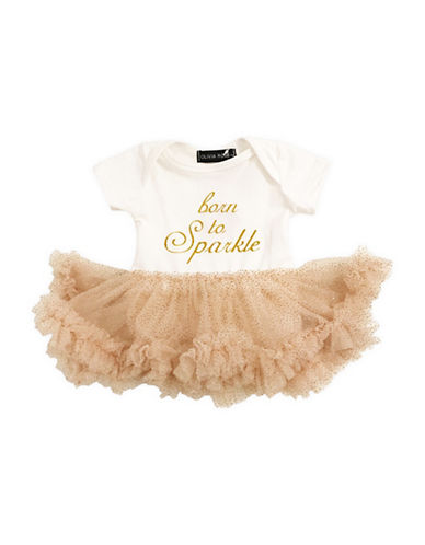 Olivia Rose Ruffle-Trim Tutu Dress-WHITE-0-3 Months