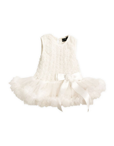 Olivia Rose Floral Lace Tutu Dress-BEIGE-3-6 Months
