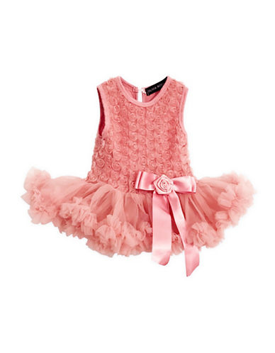 Olivia Rose Floral Lace Tutu Dress-DUSTY ROSE-3-6 Months