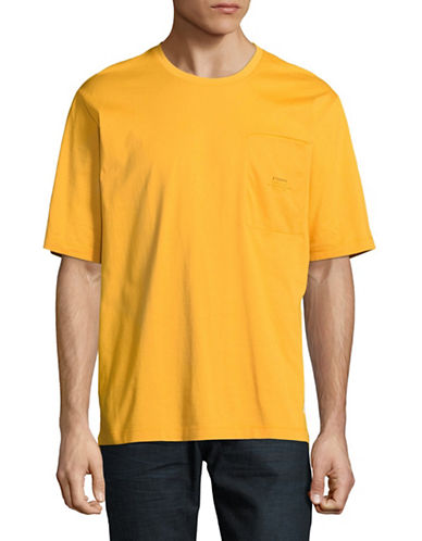 Stampd Lenox Boxy Cotton T-Shirt-YELLOW-Small