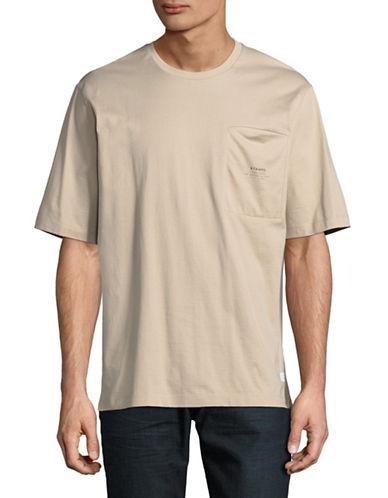 Stampd Lenox Boxy Cotton T-Shirt-BEIGE-Large