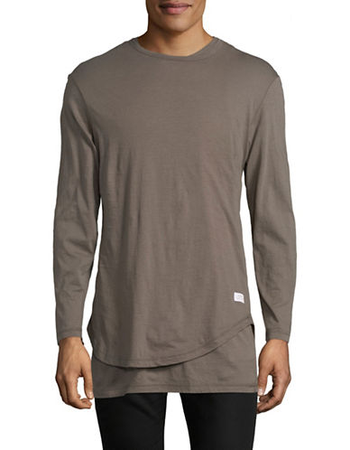 Stampd Double Layer Cotton T-Shirt-GREY-Large