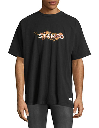 Stampd Cotton Logo Tee-BLACK-Large