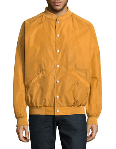 Stampd Script Varsity Jacket-YELLOW-Medium