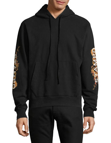 Stampd Logo Sleeves Hoodie-BLACK-Medium 89413108_BLACK_Medium