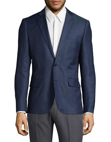 Haight And Ashbury Northwood Wool-Linen Suit Jacket-NAVY-46 Regular