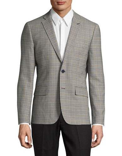 Haight And Ashbury Plaid Upton Blazer-GREY-40 Regular