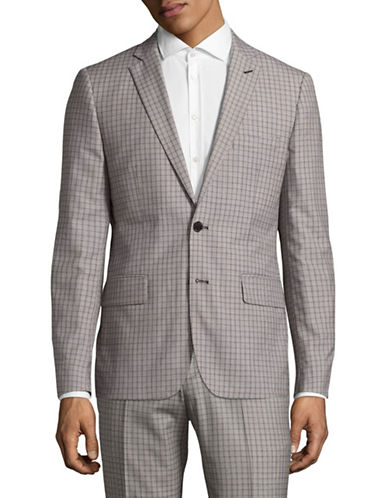 Haight And Ashbury Northwood Check Blazer-GREY-42 Regular