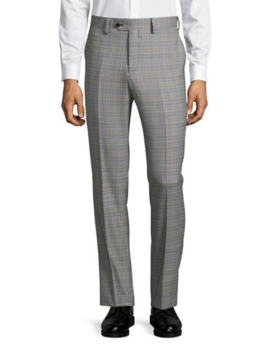 Haight And Ashbury Wool Flat-Front Pants-GREY-36 Regular