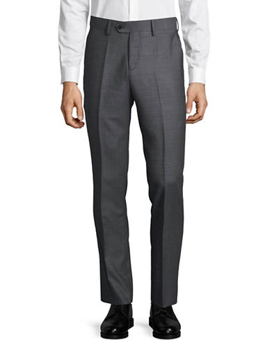 Haight And Ashbury Upton Linen Dress Pants-GREY-36 Regular