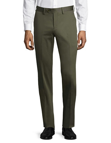 Haight And Ashbury Upton Linen Dress Pants-GREEN-34 Regular