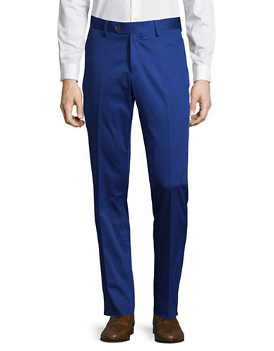 Haight And Ashbury Flat-Front Pants-BLUE-38 Regular