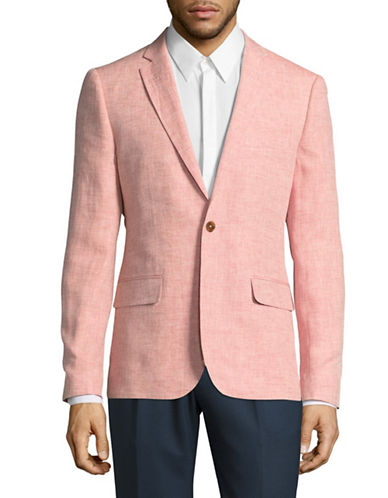 Haight And Ashbury Northwood Linen Suit Jacket-PINK-46 Regular