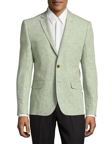 Haight And Ashbury Northwood Linen Suit Jacket-GREEN-42 Regular