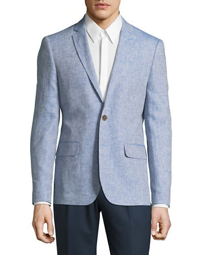 Haight And Ashbury Northwood Linen Suit Jacket-BLUE-42 Regular