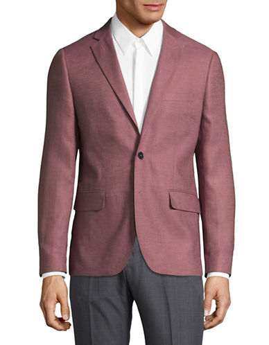 Haight And Ashbury Northwood Linen Suit Jacket-ROSE-42 Regular