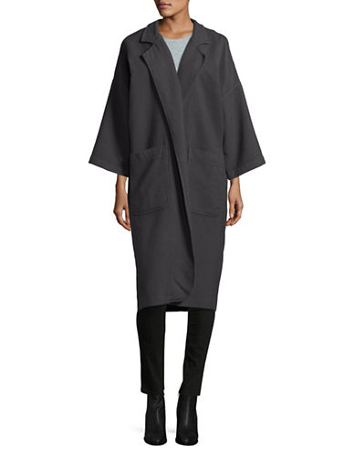 Horses Atelier Cotton Duster Coat-CHARCOAL-1