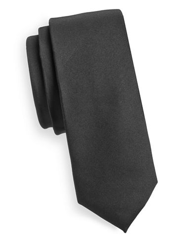 Haight And Ashbury Classic Slim Tie-BLACK-One Size