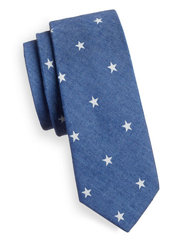Haight And Ashbury Slim Star Speckle Tie-BLUE-One Size