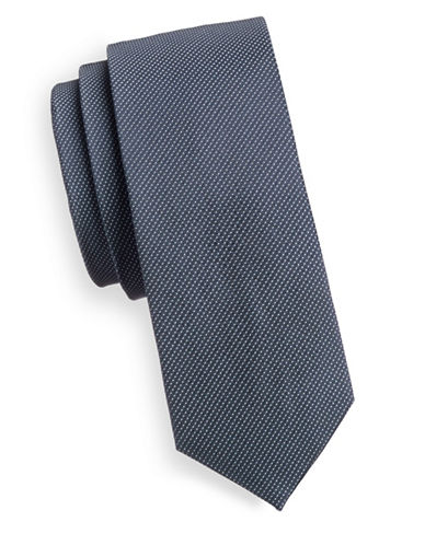 Haight And Ashbury Textured Dot Tie-NAVY-One Size