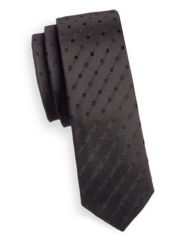 Haight And Ashbury Diamond Speckle Slim Tie-GREY-One Size