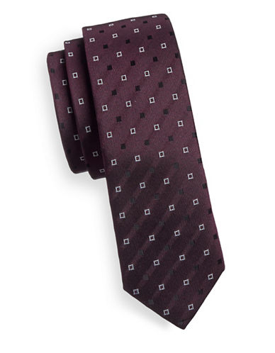 Haight And Ashbury Square Speckle Slim Tie-RED-One Size