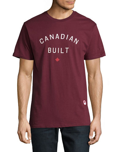 Canadian Olympic Team Collection x Peace Collective Unisex Graphic Cotton Tee-BURGUNDY-Medium