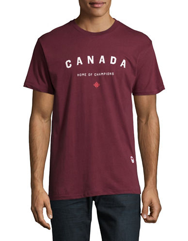 Canadian Olympic Team Collection x Peace Collective Home of Champs Cotton Tee-BURGUNDY-Small