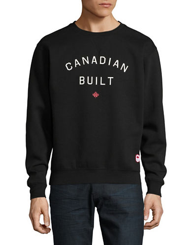 Canadian Olympic Team Collection x Peace Collective Unisex Canadian Built Graphic Sweater-BLACK-Small