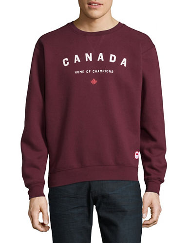 Canadian Olympic Team Collection x Peace Collective Home of Champs Graphic Sweater-BURGUNDY-Large
