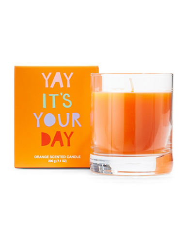 The Birdie Collection Yah Its Your Day Scented Candle-ORANGE-One Size