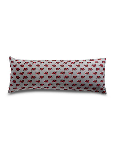 Distinctly Home Polar Bear Plaid Flannel Body Pillowcase-RED-One Size