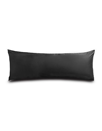 Distinctly Home 400 Thread Count Cotton Body Pillow Case-BLACK-One Size