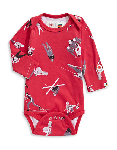 Canadian Olympic Team Collection x Drake General Store Graphic Cotton Bodysuit-RED-6-12 Months