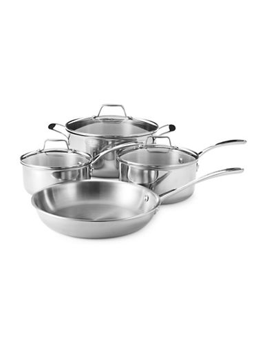 Essential Needs Seven-Piece Cookware Set-STAINLESS STEEL-One Size