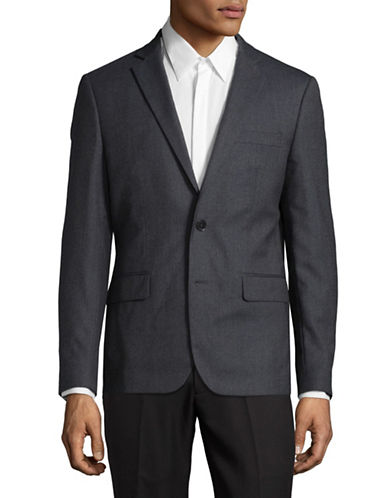 Haight And Ashbury Wool Blazer-GREY-42 Regular